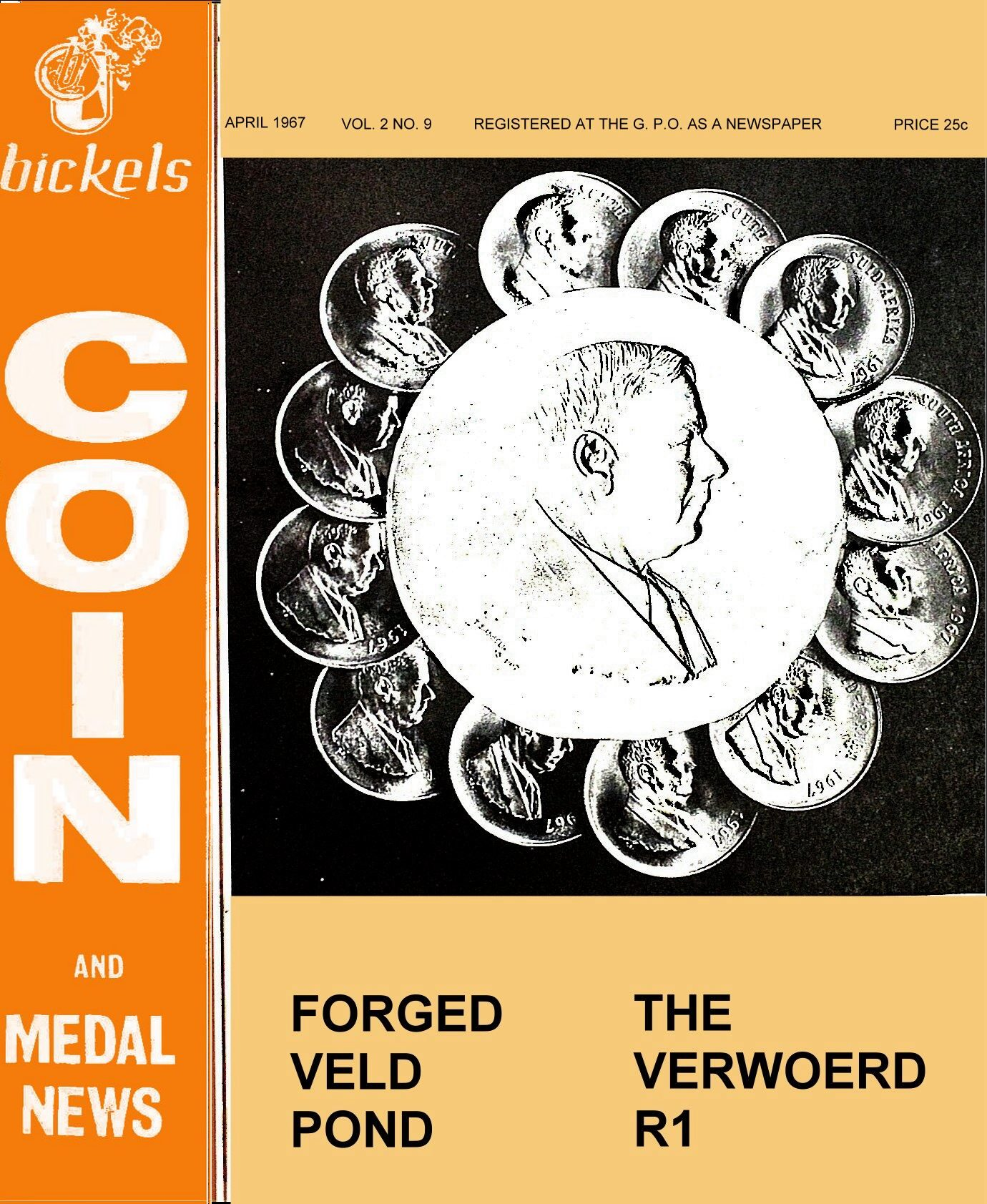 Bickels Coin & Medal News April 1967 Vol 2 No 9