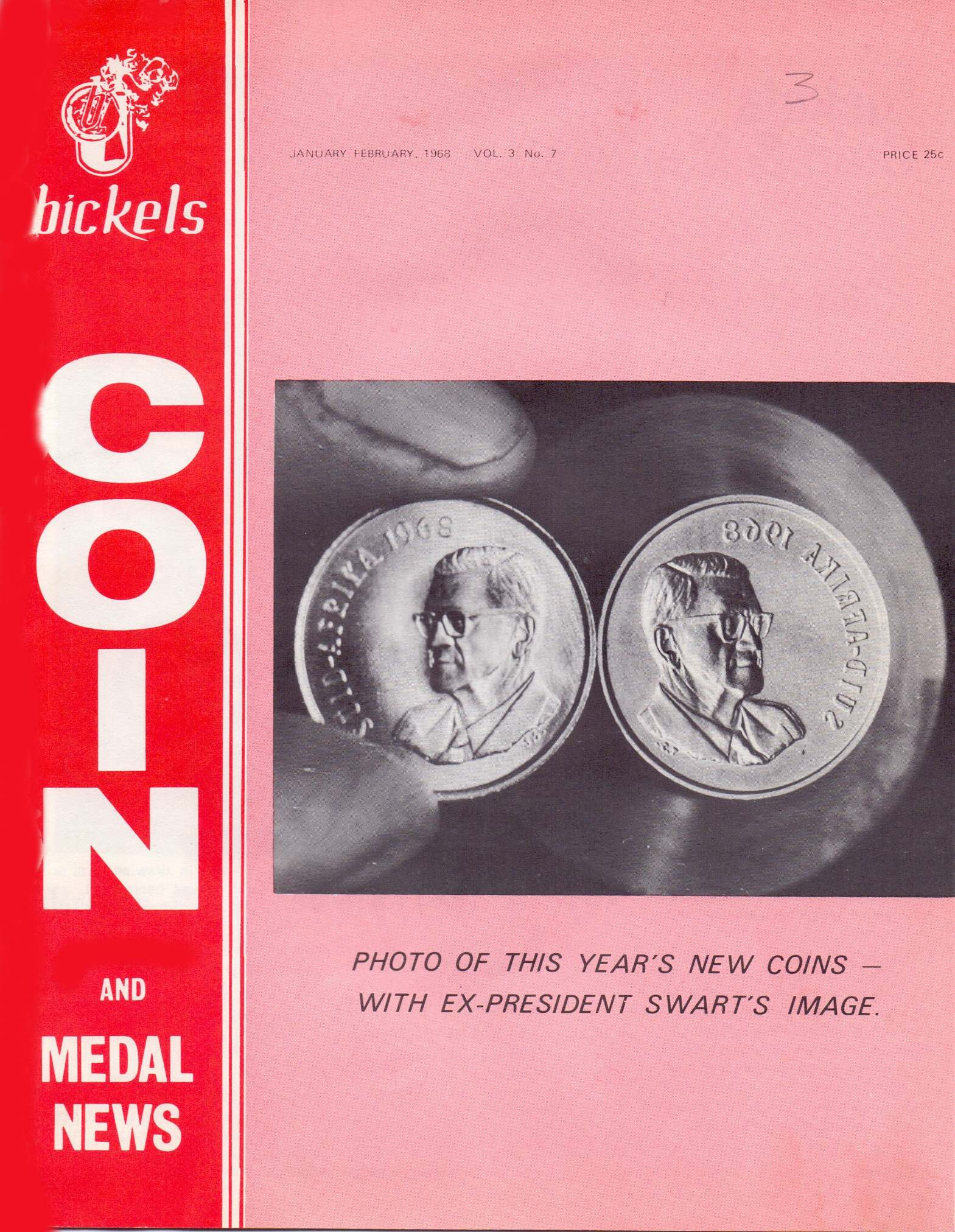 Bickels Coin & Medal News Jan Feb Mar 1968 Vol 3 No 7