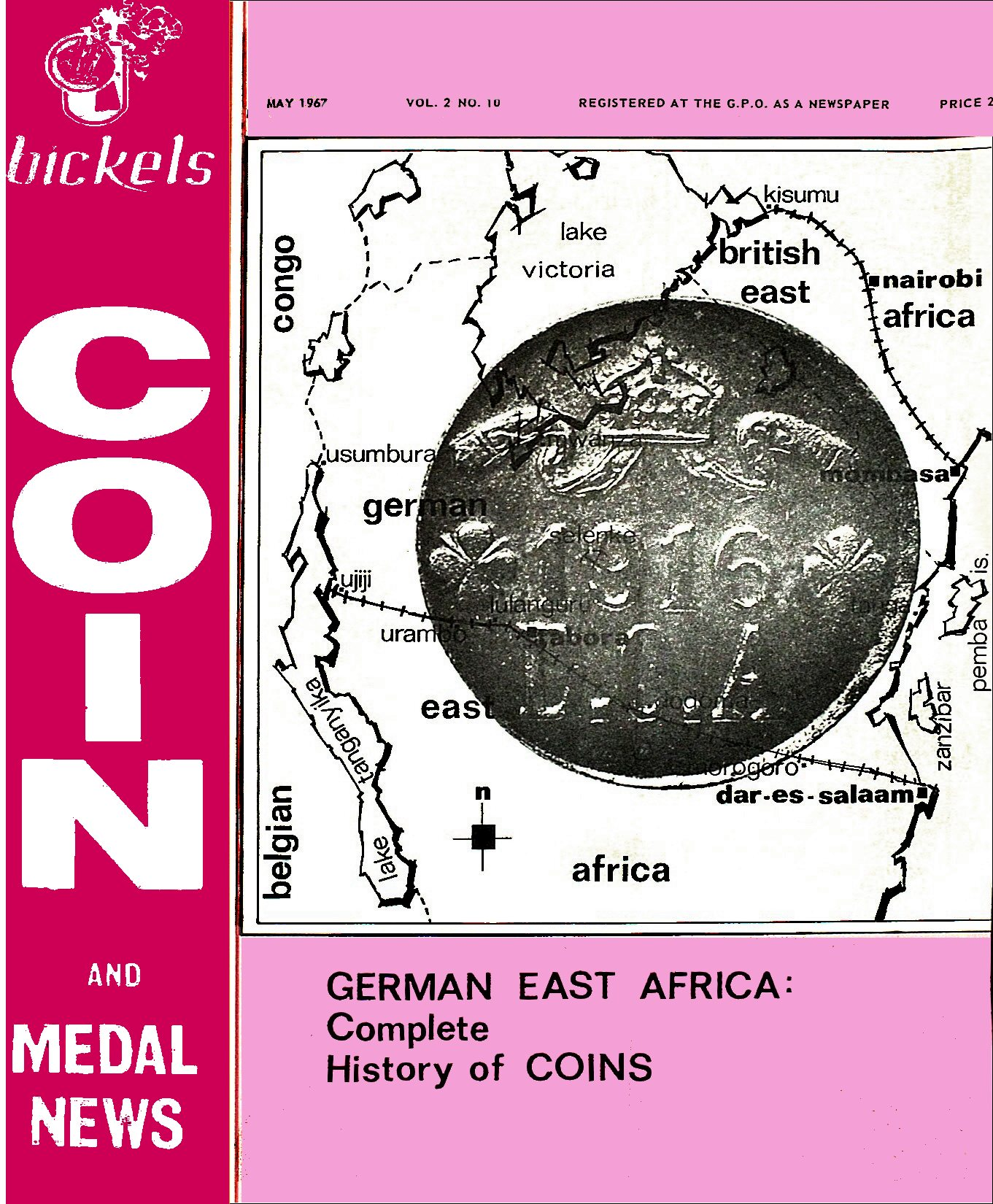 Bickels Coin & Medal News May 1967 Vol 2 No 10