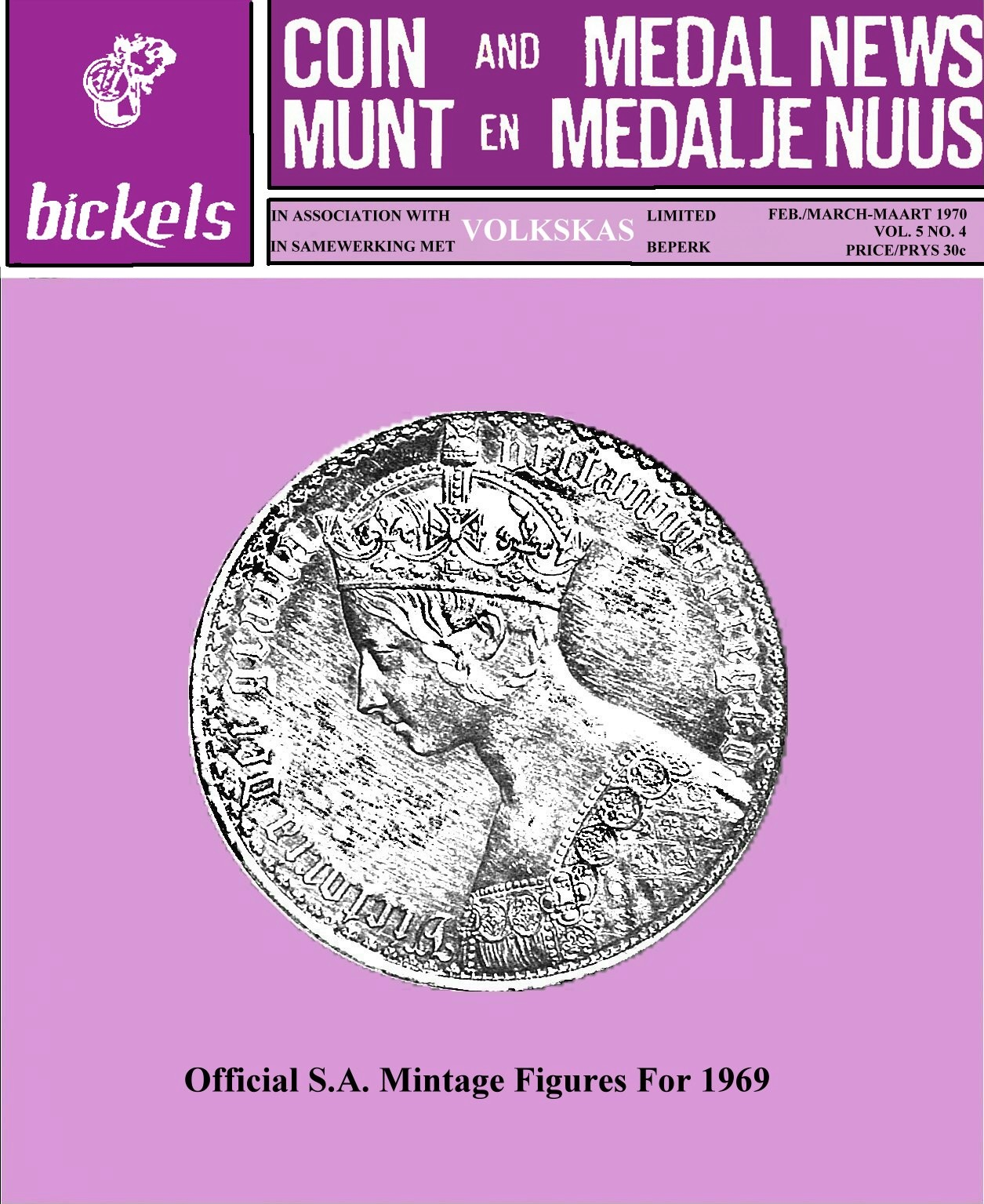 Bickel Coin & Medal News February March 1970 Vol 5 No 4