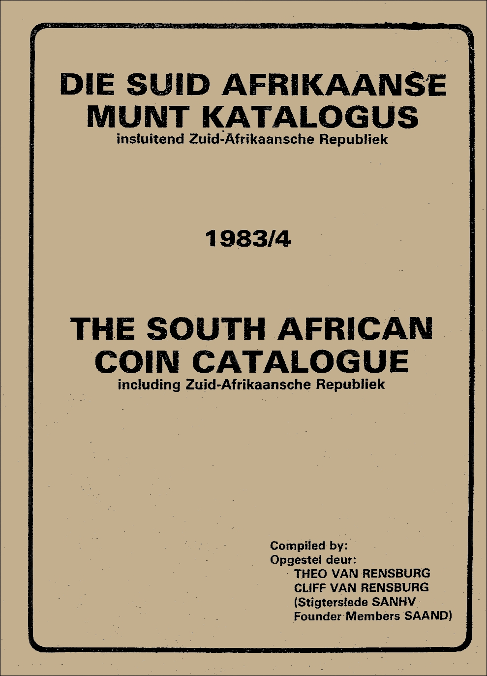 Randburg Coin Catalogue 1983 to 1984