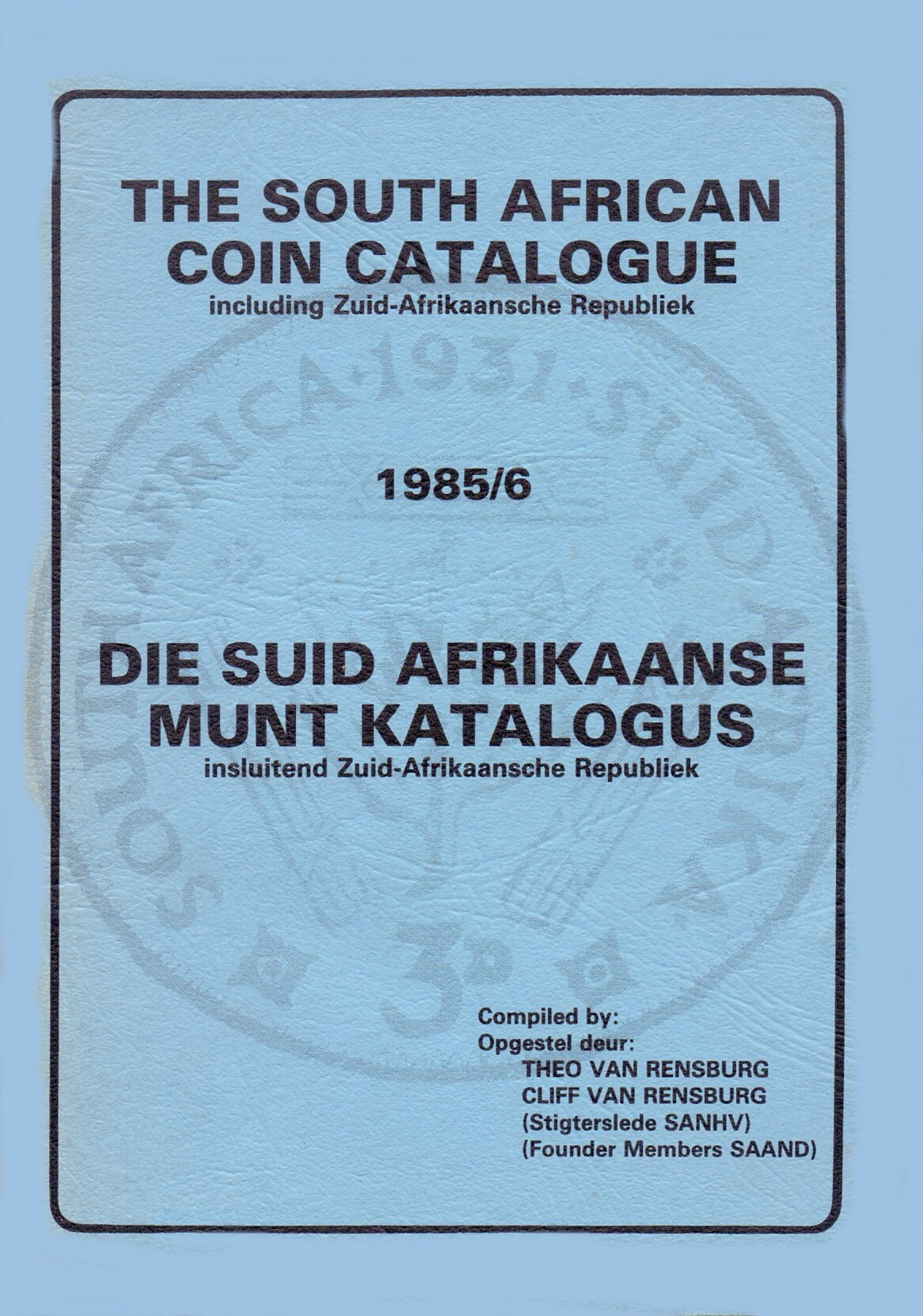 Randburg Coin Catalogue 1985 to 1986
