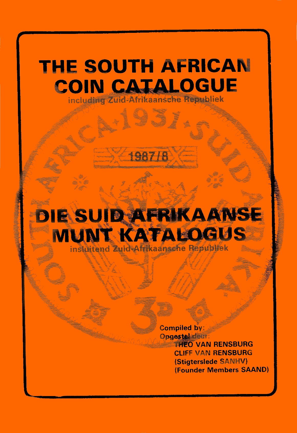 Randburg Coin Catalogue 1987 to 1988