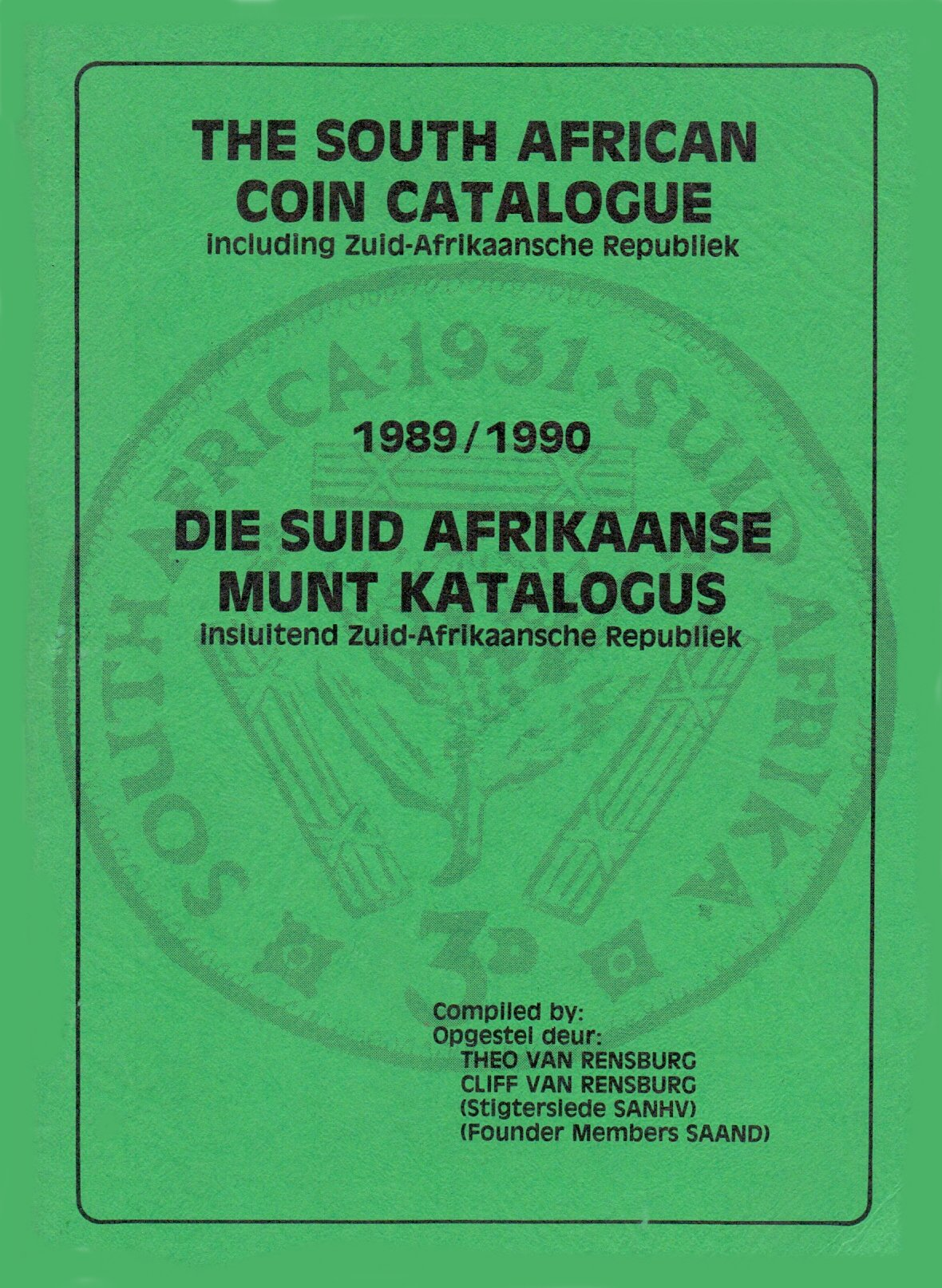Randburg Coin Catalogue 1989 to 1990